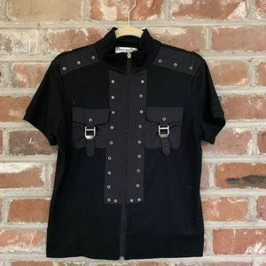 Christian Dior Boutique Zip Up Shirt with Straps